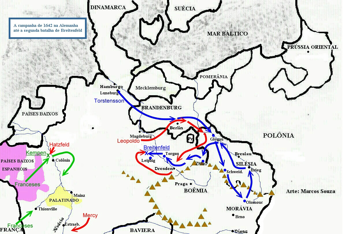 30 jähriger krieg karte Landkarten des Dreißigjährigen Kriegs